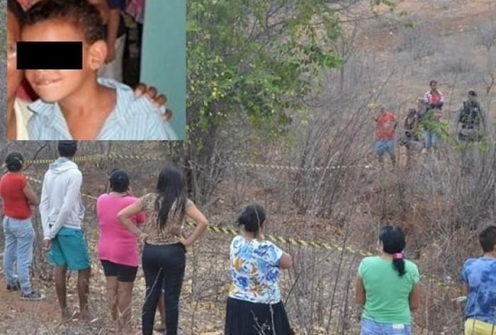 Menino de cinco anos é encontrado morto na PB. Ele foi aberto do pescoço até a virilha