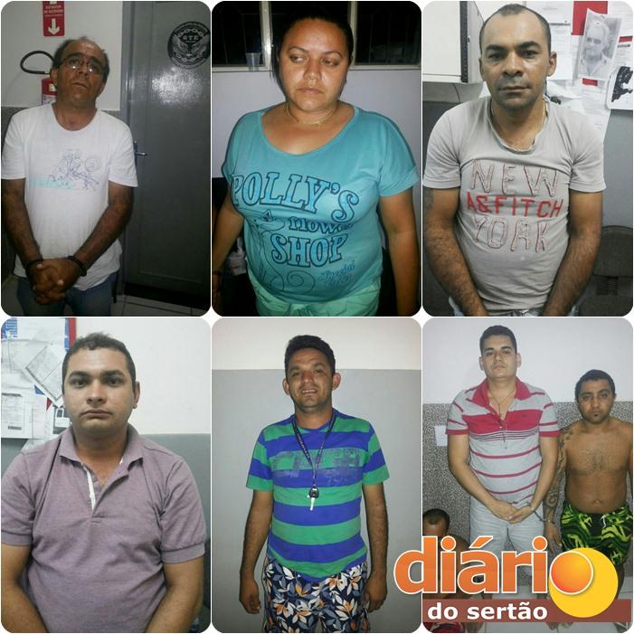 Operação da policia civil prende 17 pessoas envolvidas em trafico de drogas e assalto a bancos; Sousa era a sede dos traficantes