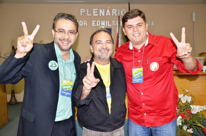 Carlos Antônio, Gildemar Pontes e Carlos Rafael
