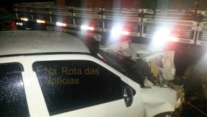O acidente envolveu três veículos esta semana