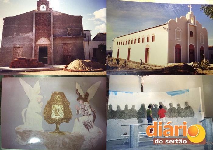 Igreja Santana foi reconstruída com dinheiro doado pelos fieis. Veja!