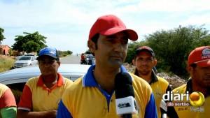 Francisco Jesus, presidente da Associação dos Taxistas de Cachoeira dos Índios