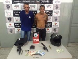 Presos durante assalto na cidade de Patos