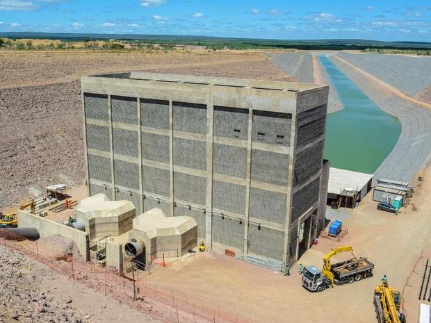 Trecho leste deve chegar à Paraíba através do Cariri (Foto: Divulgação/ Ministério da Integração Nacional)
