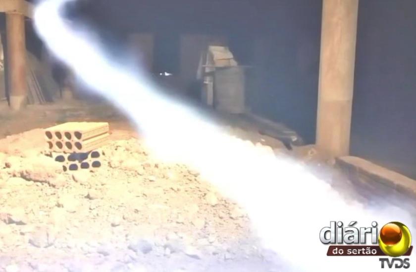 Ao pausar a filmagem, é possível ver um rastro de luz passando no local (foto: DS)