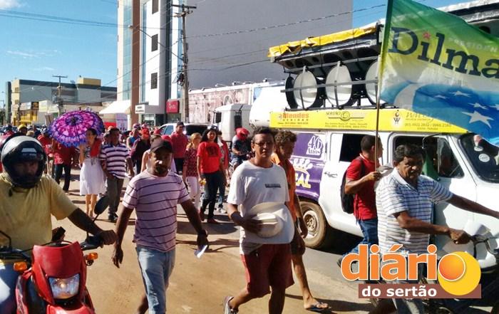 Manifestação contra o impeachment em Sousa (foto: Noberto)