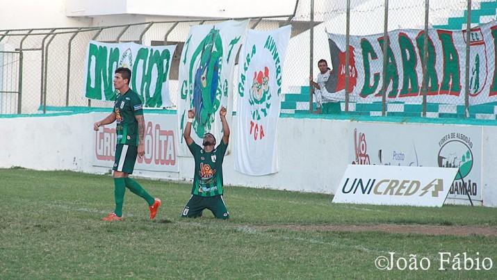Primeiro Gol do Sousa motivou a equipe para vencer a partida (Foto: João Fábio)