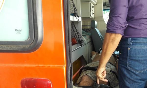 Três pessoas ficaram feridas e foram transferidas para o hospital de Cajazeiras
