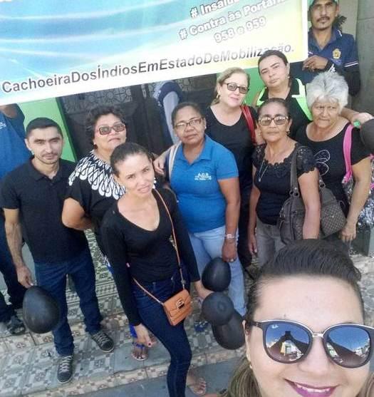 Agentes comunitários de Cachoeira dos Índios-PB também estiveram presentes na Paralização Nacional contra o PL 958