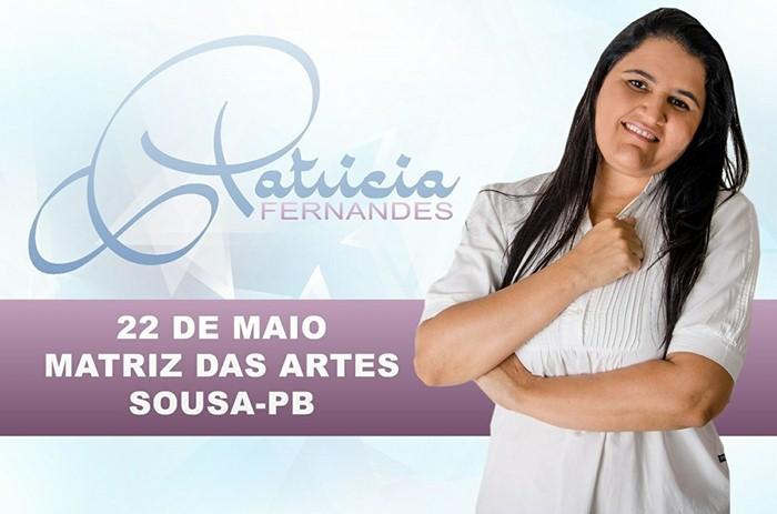 Cantora Patrícia vai se apresentar no Matriz das Artes em Sousa (foto: Samy Play)