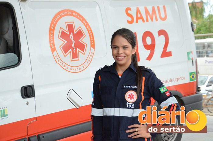 Enfermeiros do Samu Regional de Sousa (foto: Charley Garrido)