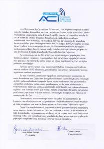 Associação Cajazeirense de Imprensa repudia declarações