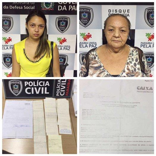 Polícia Civil da Paraíba prende mãe e filha na Paraíba