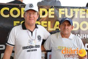 Bruno Albuquerque, organizador da copa, e Carlos Gutemberg, olheiro do Sport Recife