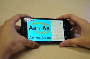 O aplicativo no celular