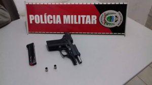 Arma apreendida pela polícia (Foto: 14º BPM)
