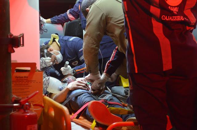 Estado de saúde da vítima ainda é considerado grave (Foto: Ângelo Lima)