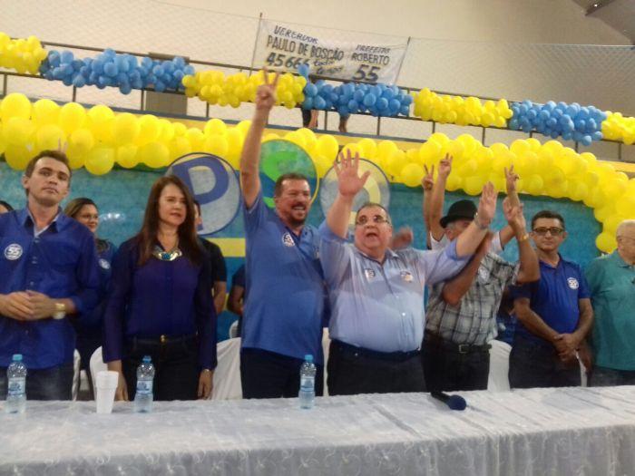 Convenção na cidade de Bom Jesus com presença do presidente do PSD.