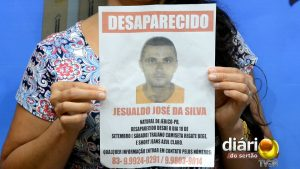 Foto de Jesualdo no cartaz de desaparecido