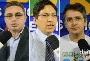 Levi Dantas, Lincon Abrantes e Petson Santos