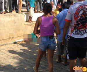 Homicídio na cidade de Cajazeiras nesta quinta-feira.