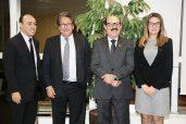 Senador Deca ao lado Presidente do Ebserh, do diretor do Campus de Cajazeiras e Superintendente do HUJB