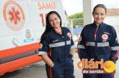 Profissionais de enfermagem do SAMU Regional de Sousa (foto: Charley garrido)