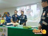 Funcionários do SAMU durante evento na ISIS em Sousa (foto: Diário do Sertão)