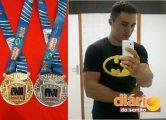 Lutador Thiago Vasconcelos ganhou duas medalhas na competição (foto: Diário do Sertão)