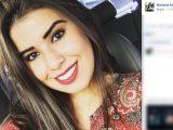 A estudante  Mariana Angélica, morta a tiros em festa universitária de São José (Foto: Reprodução/Facebook)