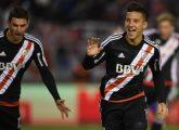 Driussi comemora gol do River Plate (Foto: Reprodução site oficial do River Plate)