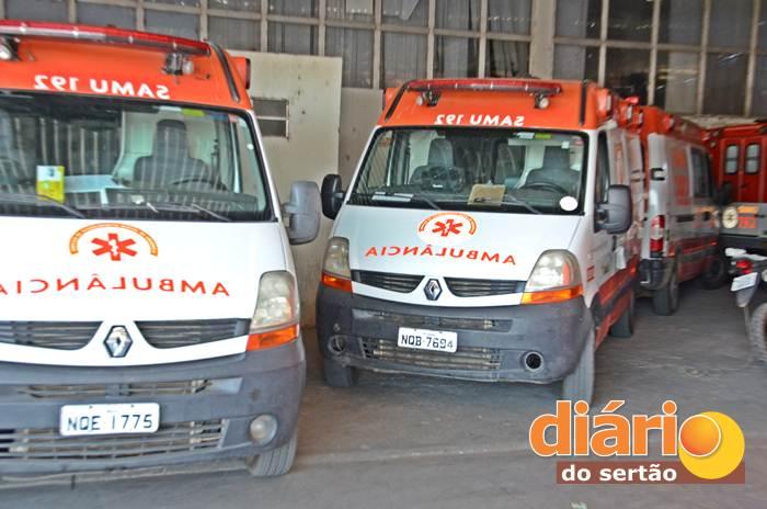 Ambulâncias do SAMU Regional de Sousa (foto: Diário do Sertão)