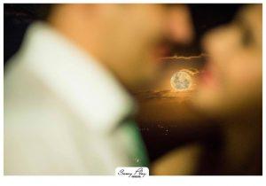 Ensaio fotográfico de casal com a Superlua (Foto: Samy Play)
