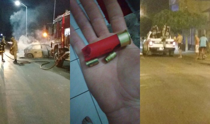 Bandidos explodiram agência bancária em São João do Rio do Peixe (foto: WhatsApp)