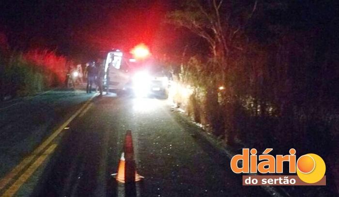 Ambulância do SAMU capotou durante ocorrência (foto: reprodução/whatsapp)