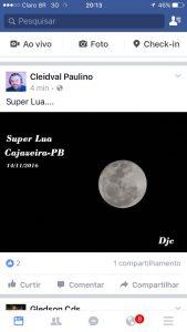 Imagens da superlua em diversas regiões (Foto: Reprodução / Redes Sociais)