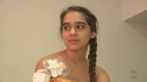 Mayra com doença rara (Foto reprodução do vídeo G1PB)