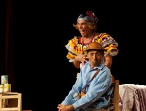 Ricardo Lacerda e Jucinério Félix interpretam Maria Calado e Zé do Vale no espetáculo