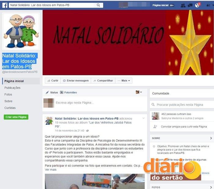 Página oficial da campanha (Foto: Reprodução / Divulgação)