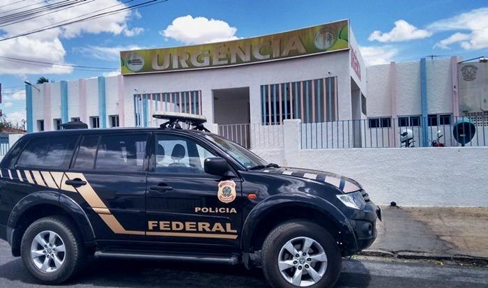 Polícia Federal realizou operação em hospitais no Sertão da Paraíba (foto: reprodução/whatsapp)