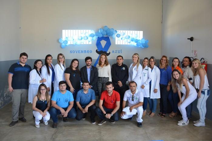 Toda a equipe envolvida nas ações do 'novembro azul' no presídio de Cajazeiras
