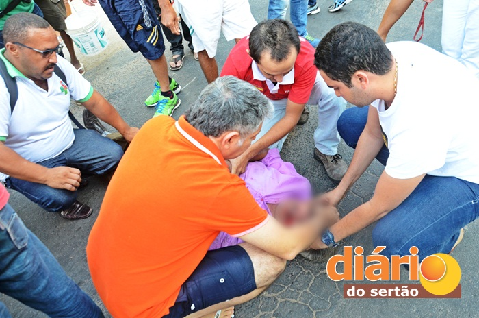 Acidente deixou aposentado ferido (foto: Charley Garrido)