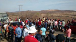 Protesto foi realizado na cidade de São José de Piranhas