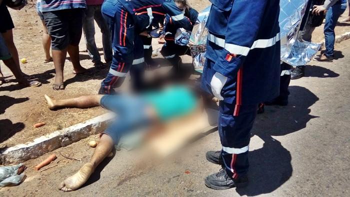 Condutor de uma das motos morreu no local (foto: reprodução/WhatsApp)