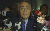 reprodução/tv senado Renan Calheiros foi mantido à frente do Senado, mas fica afastado da linha sucessória da Presidência da República