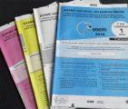 Cadernos de provas do primeiro dia da segunda aplicação do Enem 2016 (Foto: Divulgação/Ari de Sá)