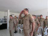 Tenente-Coronel Carlos Jean e Major Edênio Mendes durante nomeação (Foto:  CBMPB)