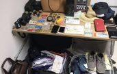 Material encontrado na casa do casal, em Paulista-PE, foi trazido para Central de Polícia em João Pessoa (Foto: Divulgação/Lucas Sá/Polícia Civil)